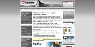 Verwendet die shoCo Shopschnittstelle der netfuchs gmbh in Interlaken:www.trooper.ch