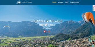 Referenz Webdesign Interlaken: Camping Interlaken