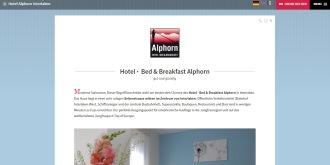 Referenz CMS Webdesign netfuchs gmbh, Interlaken: www.hotel-alphorn.ch