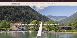 Referenz Webdesign Interlaken: Hotel Neuhaus Unterseen am Thunersee
