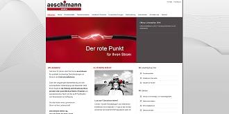 Referenz CMS Webdesign netfuchs gmbh, Interlaken: www.aeschimann-elektro.ch