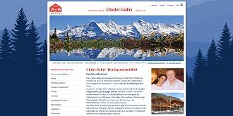 Referenz CMS Webdesign netfuchs gmbh, Interlaken: www.chalet-gafri.ch