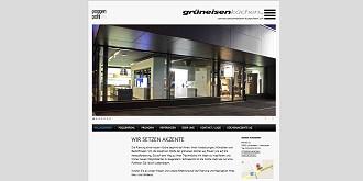 Referenz responsive Webdesign netfuchs gmbh, Interlaken: www.grueneisen-kuechen.ch