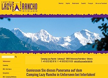 Referenz Webdesign netfuchs gmbh: Camping Lazy Rancho, Unterseen-Interlaken