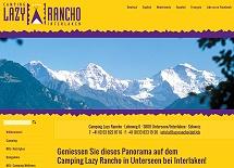 Referenz Webdesign netfuchs gmbh: Camping Lazy Rancho, Unterseen-Interlaken