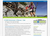 Referenz responsive Webdesign netfuchs gmbh, Interlaken: www.run4families.ch